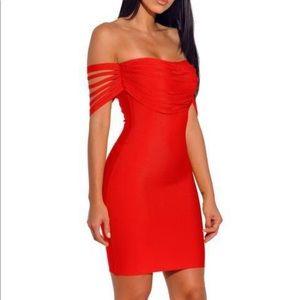 Dresses & Skirts - Fall in Love off the Shoulder Bandage Dress